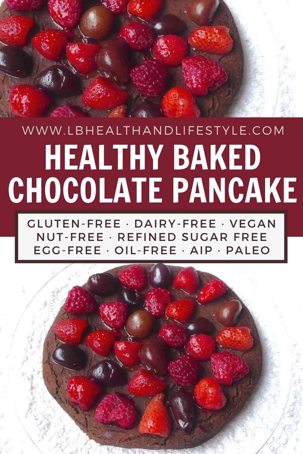 Oven Baked Pancake – Healthy Chocolate Recipe