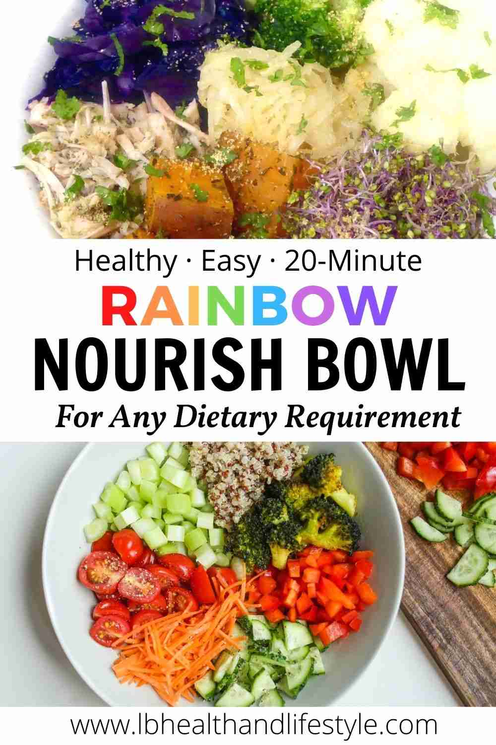 Rainbow Nourish Bowl – for any dietary requirement
