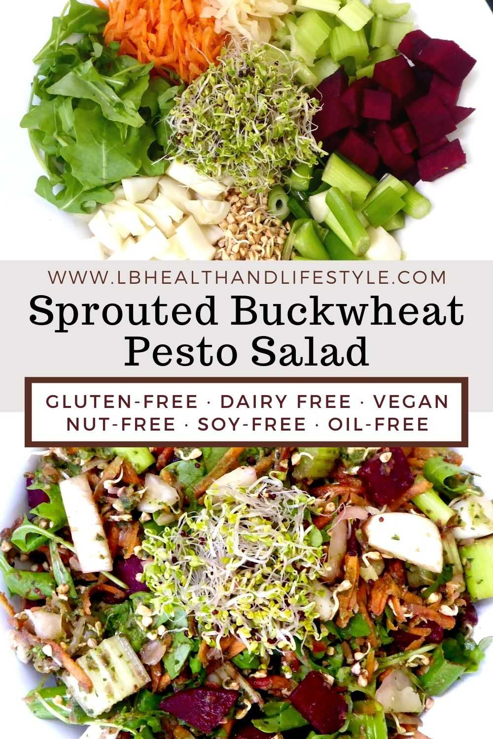 Sprouted Buckwheat Salad With Basil Pesto